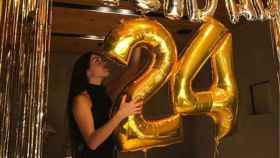 Georgina en su fiesta de cumpleaños.