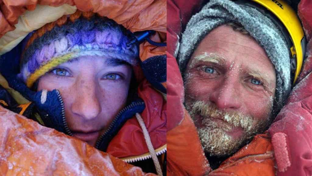 Elisabeth Revol y Tomek Mackiewicz en dos imágenes de archivo.