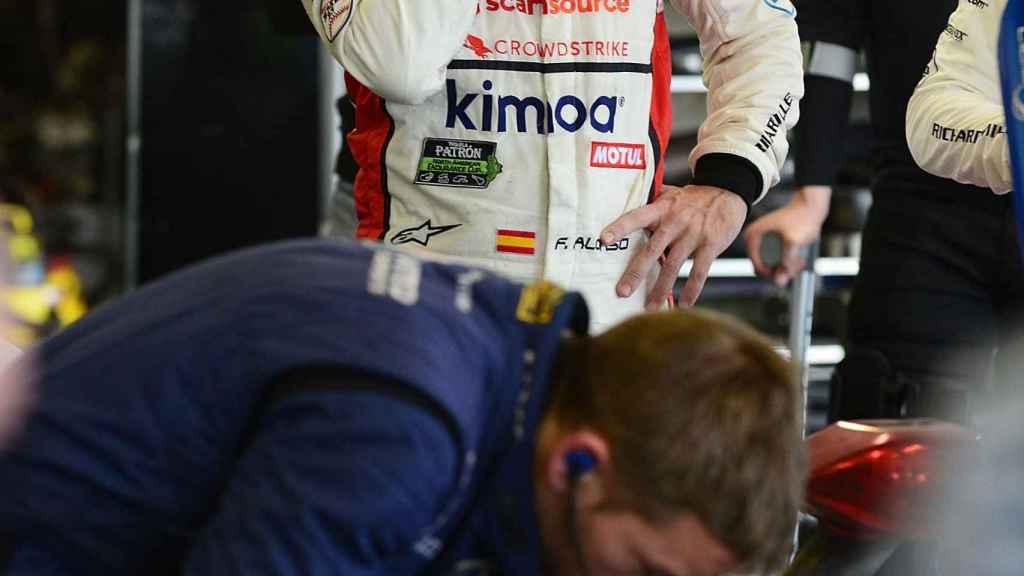 Fernando Alonso, tras finalizar la carrera.