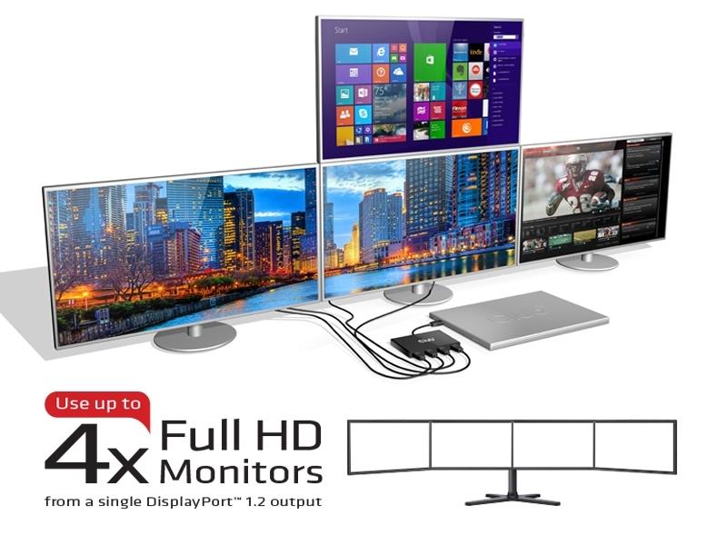 multi-stream displayport multirruta varias pantallas