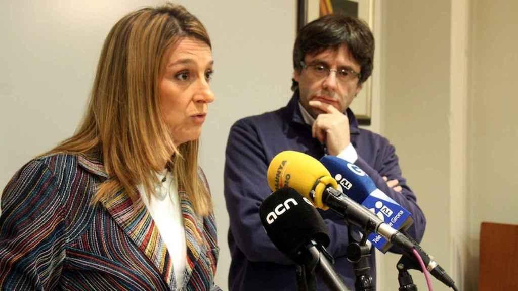 Glória Plana y Carles Puigdemont en una imagen de archivo