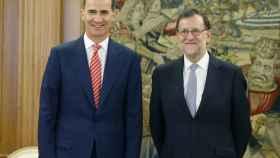Felipe VI y Mariano Rajoy en una imagen tomada en 2016 durante la ronda de consultas.