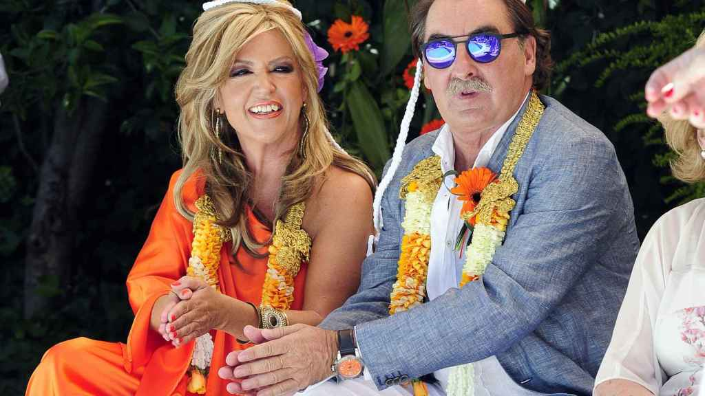 Lydia Lozano y su marido Carlos.