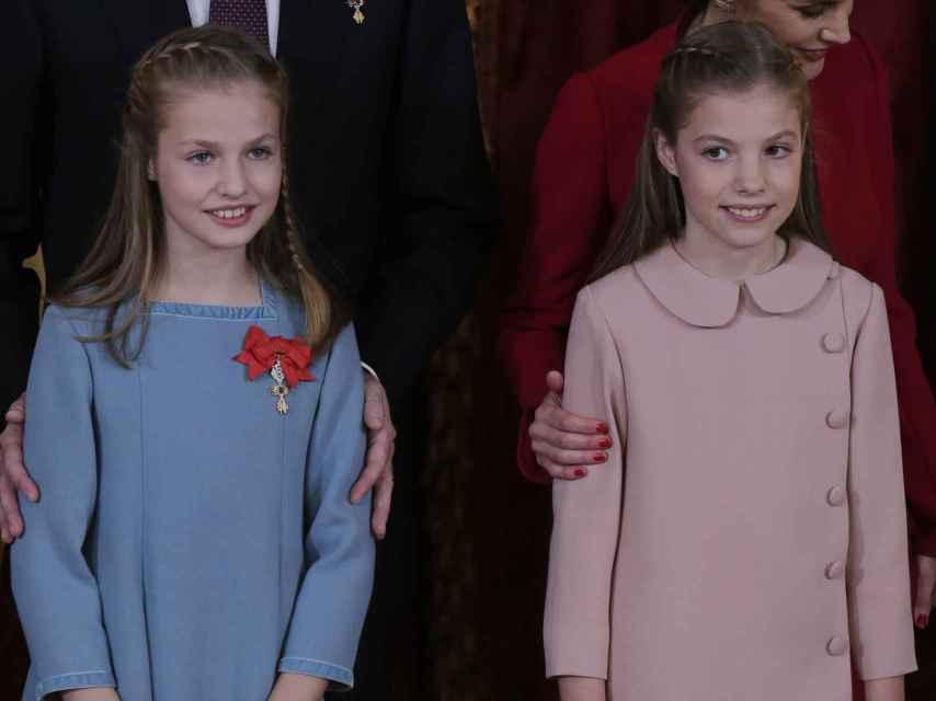Las hermanas posan en el Palacio Real. Gtres.
