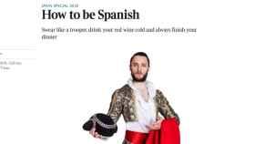 Ser español es comportarse como un chimpancé, y olé, según The Times
