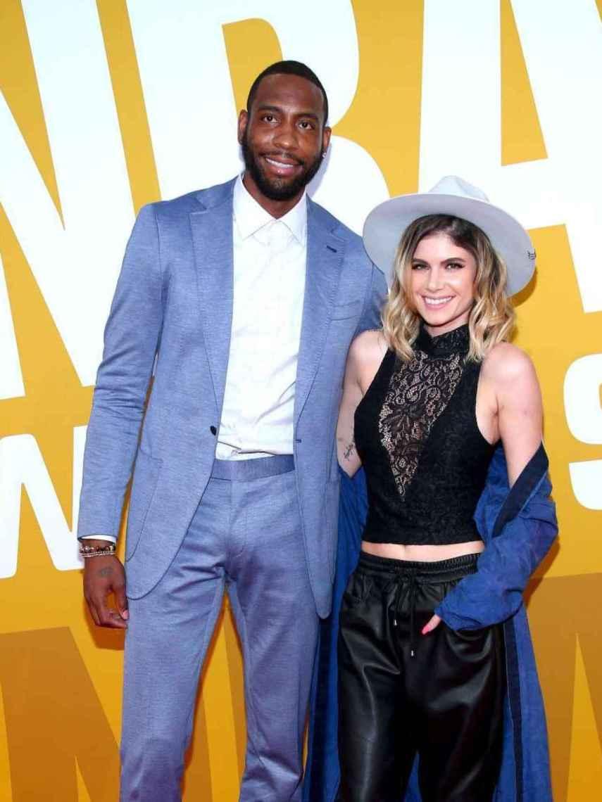 Butler, junto a su mujer en una en entrega de premios.