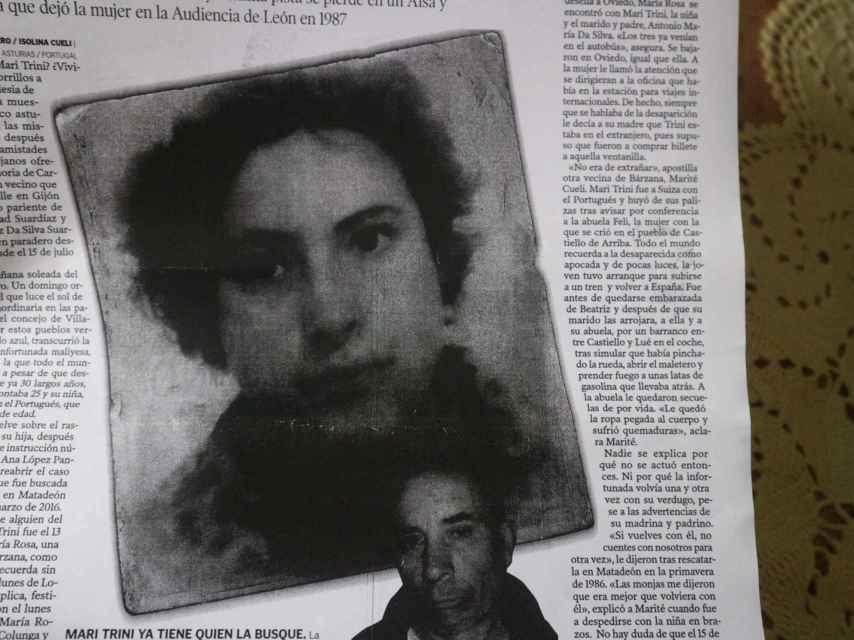 La desaparición de Mari Trini y su bebé es un misterio para los vecinos de Asturias y León.