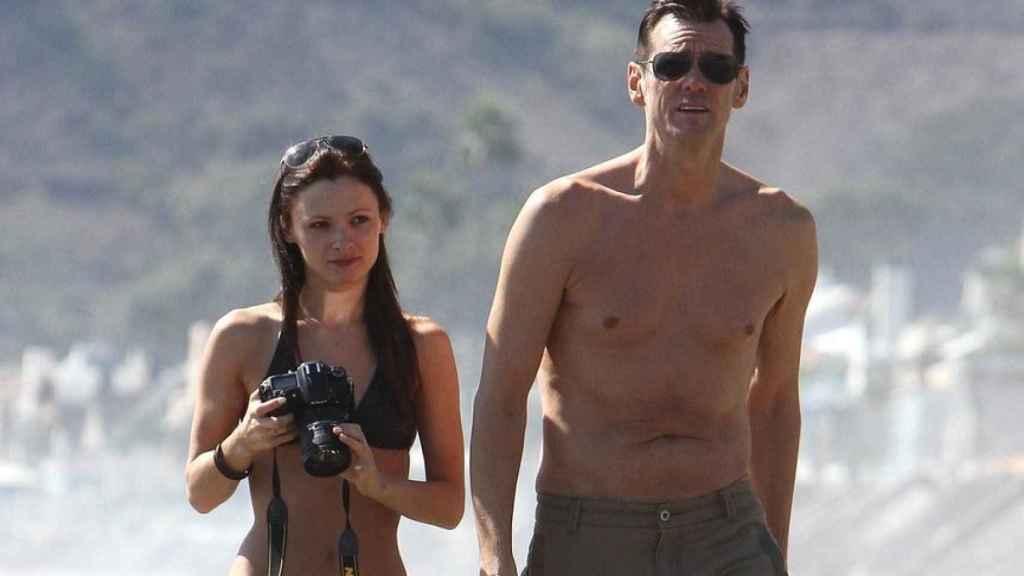 El actor y White durante unas vacaciones.