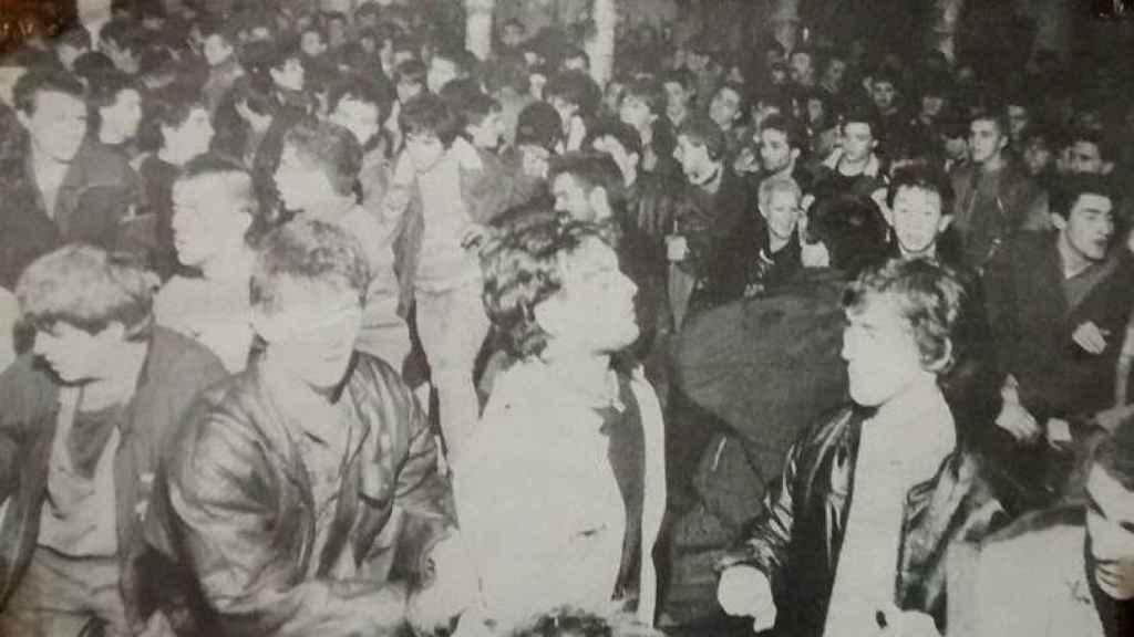 Un gaztetxe en Bilbao a principios de los 80. Los gaztetxes eran espacios ocupados