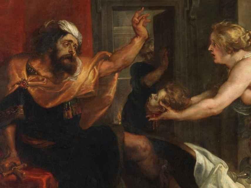 Fragmento de la pintura de Rubens El banquete de Tereo, en el Museo del Prado.