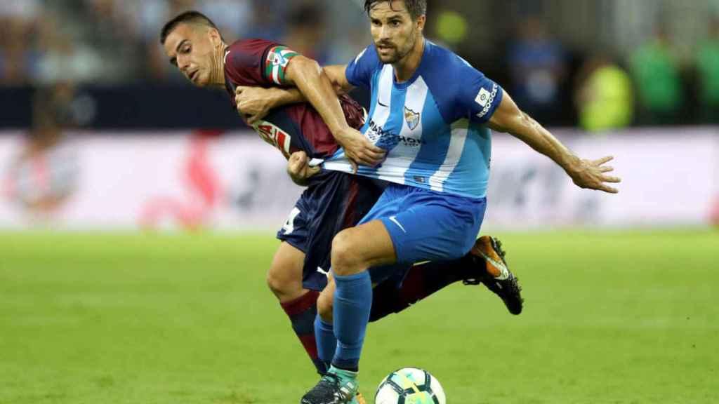 Imagen de un partido entre Málaga y Eibar de esta temporada.