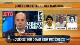Juanma Rodríguez, en El Chiringuito. Foto: Twitter (@elchiringuitotv)