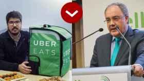 Manel Puig (Uber Eats) y Tobías Martinez (Cellnex).
