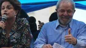 Lula Da Silva junto a Dilma Rousseff en Porto Alegre.