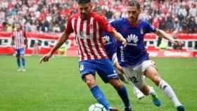 Imagen del partido de ida entre Sporting y Real Oviedo.