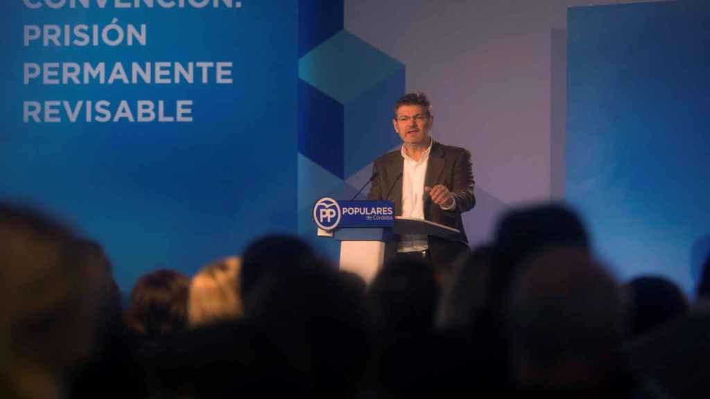 El Ministro de Justicia, Rafael Catalá, en el acto de Córdoba