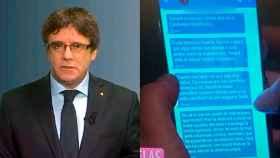 Las cámaras de Telecinco destaparon lo que decía Puigdemont a través de Signal.