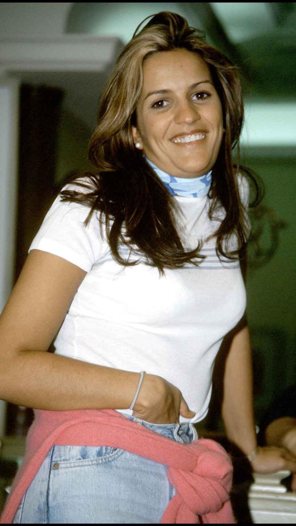 Marta López en sus inicios.