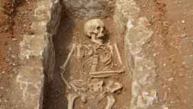 Localizan la sepultura de un adolescente islámico del siglo VIII en Barcelona. EFE.