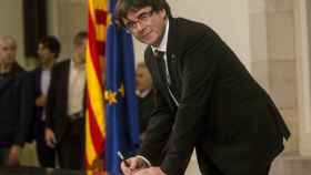 El expresidente de la Generalitat, Carles Puigdemont, en una imagen de archivo.