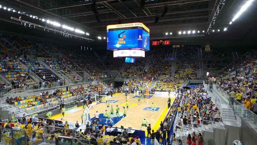 El Gran Canaria Arena, escenario de la Copa del Rey 2018.