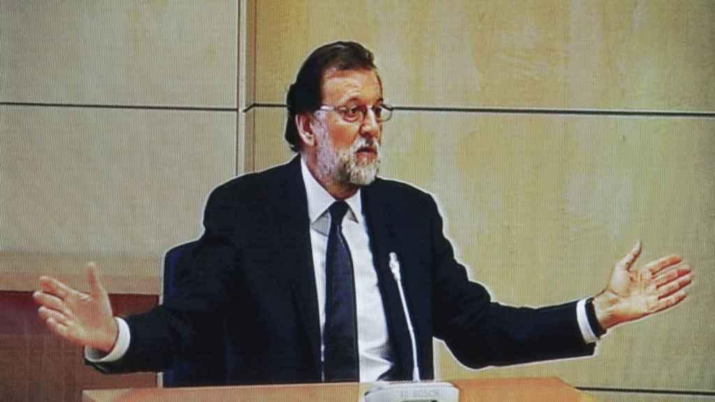 Rajoy durante su declaración en el caso Gürtel.