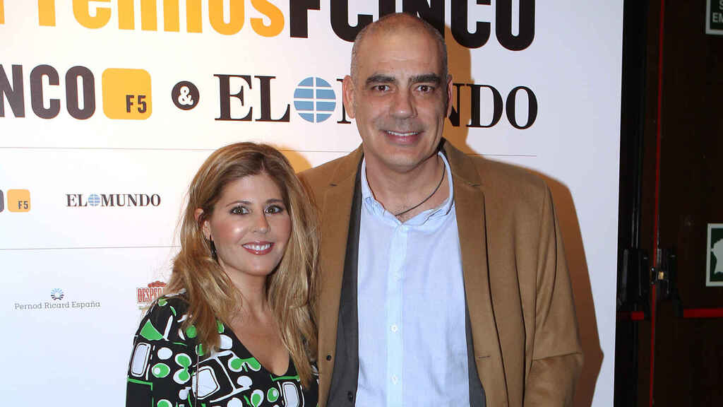 Nacho Abad y Bárbara Royo en los premios Fcinco. Gtres.