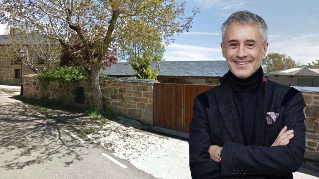 Sergio Dalma en la parte trasera de su casa Zamorana en un montaje.