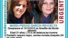 María Piedad, desaparecida hace 7 años al volver de la cena de Navidad con su expareja