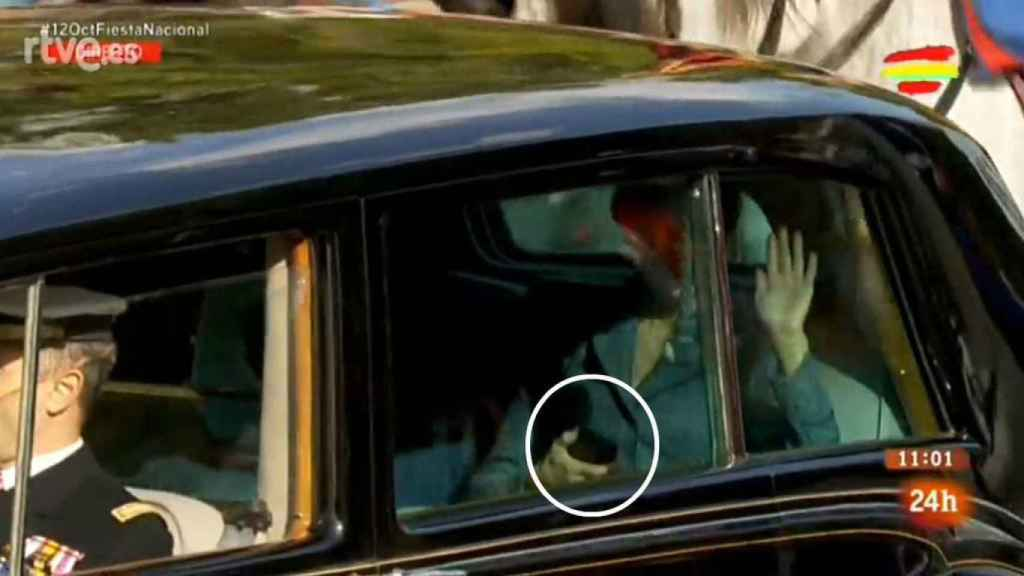 La reina Letizia el día de la Hispanidad.