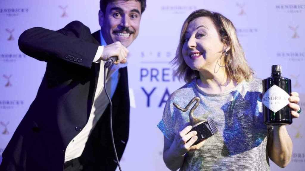 Foto de Carmen Machi con su premio el año pasado.