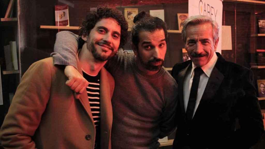 Paco León, Javi Ruiz Calder e Imanol Arias en otra de las galas.
