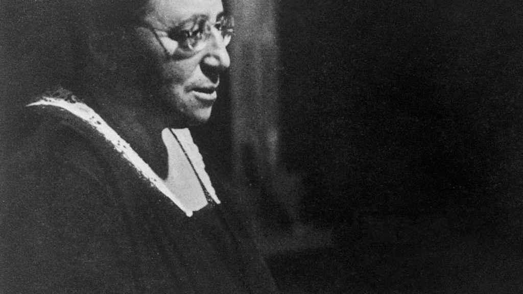 La matemática Emmy Noether, en 1930