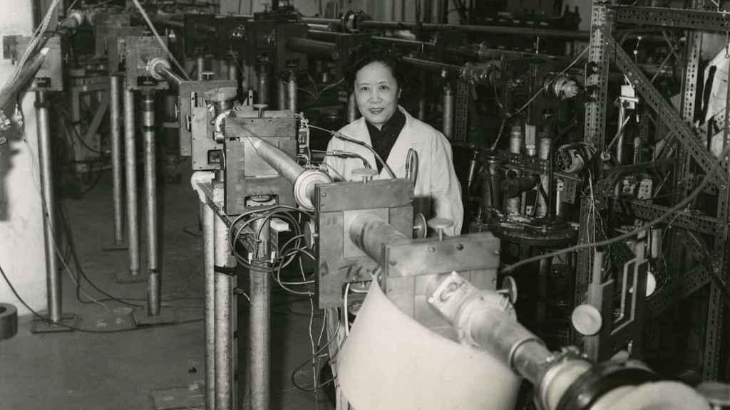 La física Chien-Shiung Wu en la Universidad de Columbia