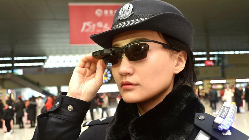 policia china gafas reconocimiento facial camara