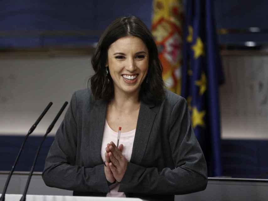 La portavoz Irene Montero, en el Congreso de los Diputados.