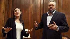 Irene Montero, 'portavoza' de Podemos, y Juan Carlos Girauta, portavoz de Ciudadanos.
