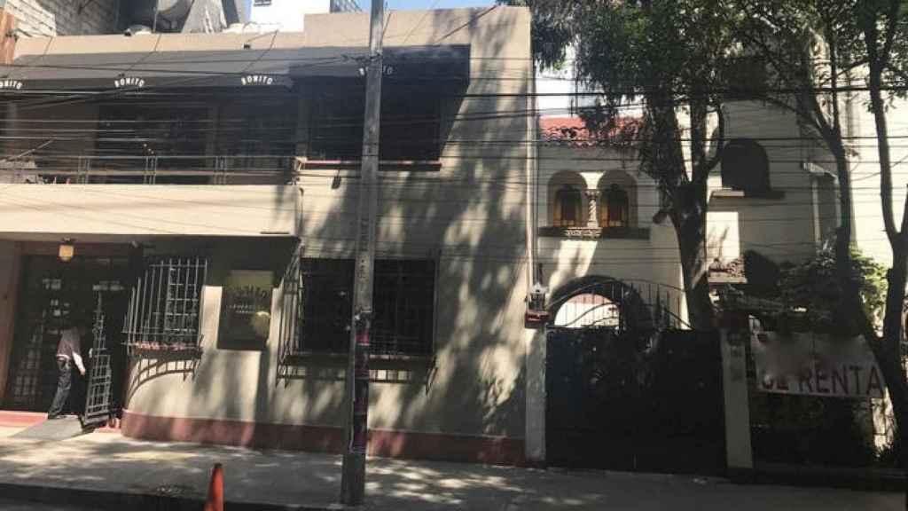 Actual vista de la que fue casa de Prieto en México.