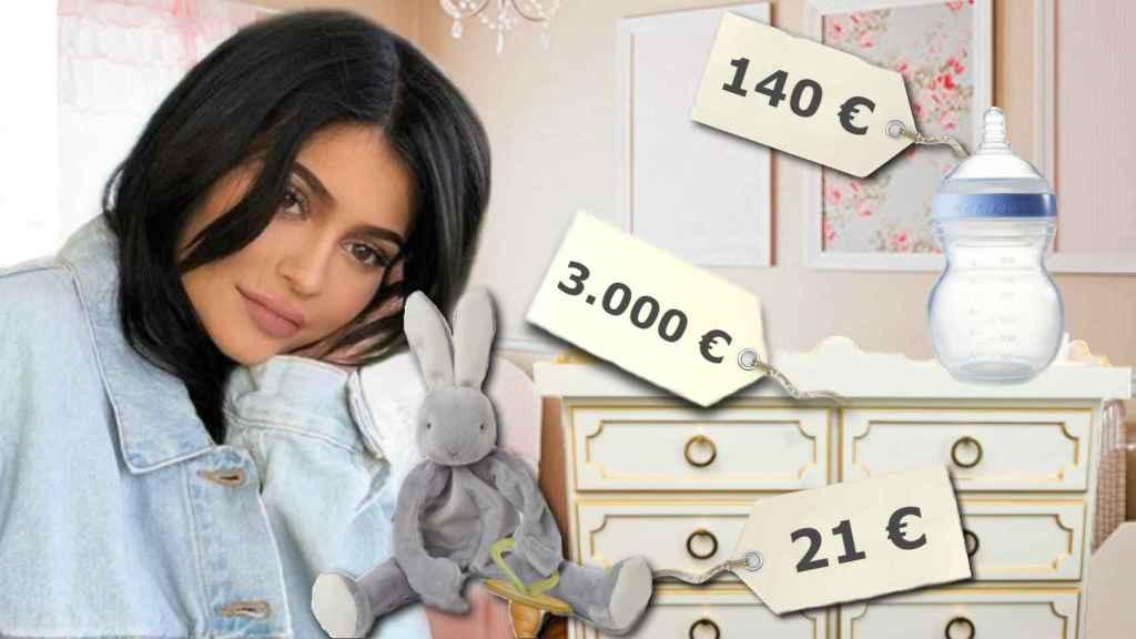 Montaje de la habitación del bebé de Kylie Jenner.