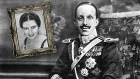 Carmen Ruiz y Alfonso XIII en un montaje.