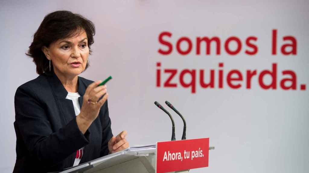 Carmen Calvo, secretaria de Igualdad del PSOE: