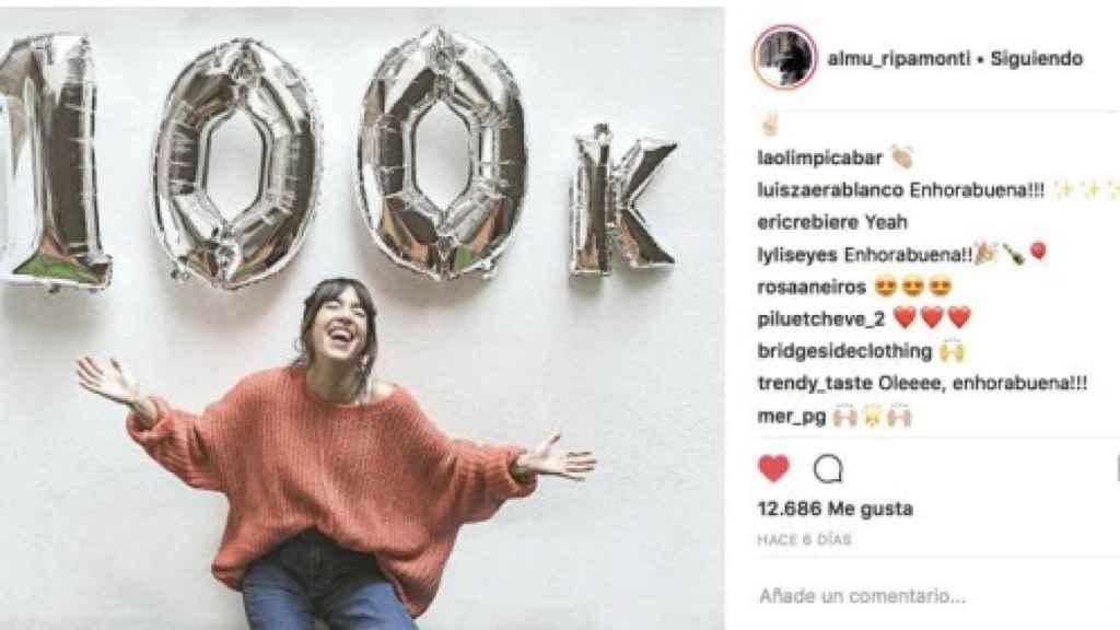 Uno de los post de Instagram de la falsa influencer.