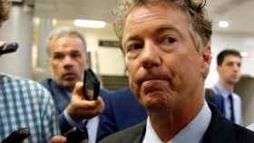 El republicano Rand Paul, durante la sesión en el Senado.