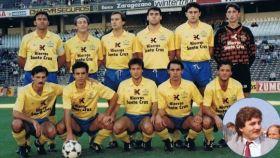El Cambados, en 1991, en el césped del Real Madrid. El Cambados jugaba en Segunda B tras un ascenso meteórico de apenas dos años.