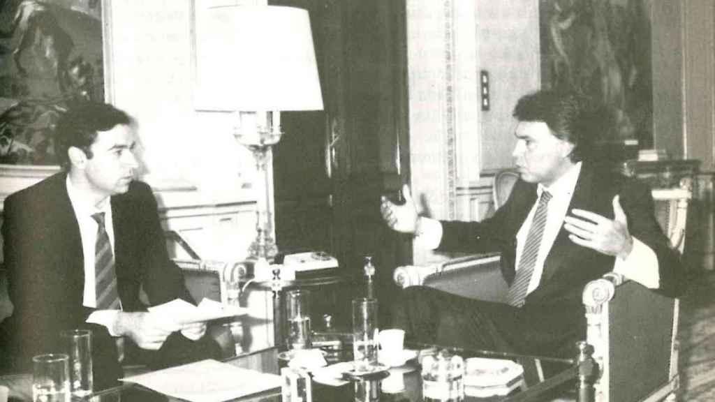 En el despacho del presidente, en La Moncloa, en octubre del 86.