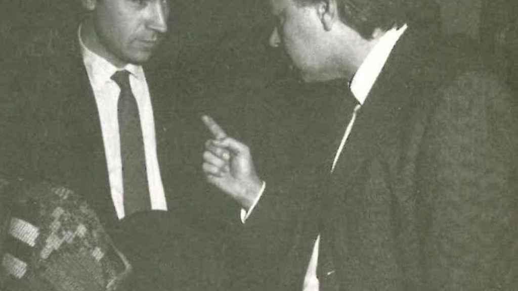 En los pasillos del Congreso, el 7 de diciembre de 1987.