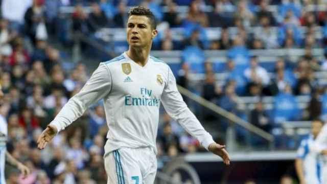 Cristiano Ronaldo, en el Real Madrid-Deportivo. Foto: Manu Laya / El Bernabéu