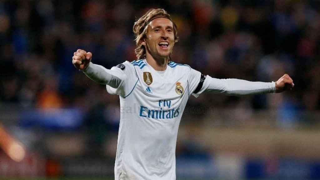 Modric celebra su gol contra el APOEL