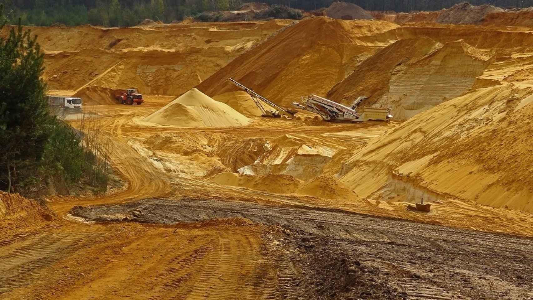 Una explotación minera en una imagen de archivo.