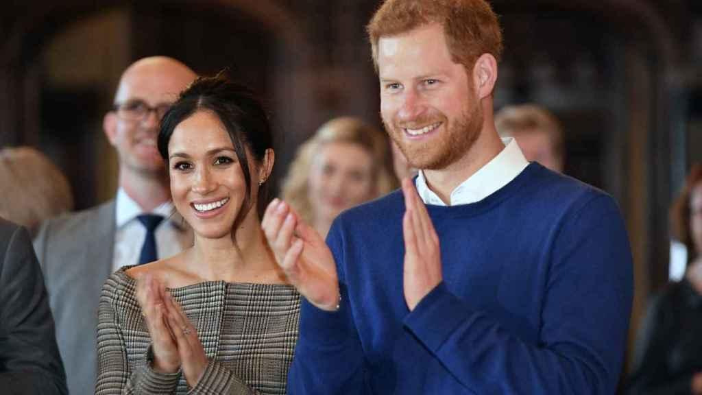 Príncipe Enrique y Meghan Markle.